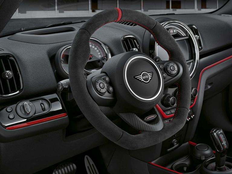 JCW steering wheel Alcantara/Carbon
